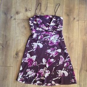 Ann Taylor silk A Line purple cocktail dress